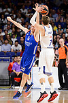 Real Madrid's Luka Doncic and Anadolu Efes's Cedi Osman during Turkish Airlines Euroleague match between Real Madrid and Anadolu Efes at Wizink Center in Madrid, April 07, 2017. Spain.<br /> (ALTERPHOTOS/BorjaB.Hojas)