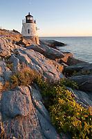 Castle Hill lighthouse, Narragansett Bay evening, Newport, RI