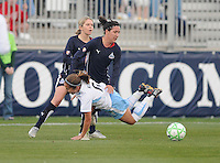 Washington Freedom forward Lisa De Vanna (17) fouls Chicago Red Stars midfielder Brittany Klein (6)   Washington Freedom tied  Chicago Red Stars 1-1  at The Maryland SoccerPlex, Saturday April 11, 2009.