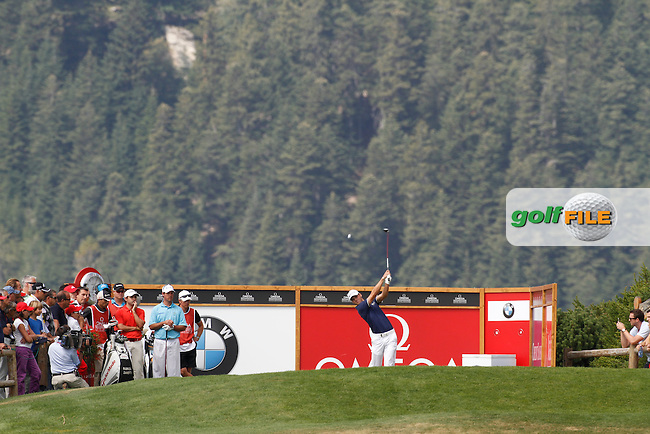Martin Kaymer (GER) on the 7th during the 3rd day of the Omega European Masters, Crans-Sur-Sierre, Crans Montana, Switzerland..Picture: Golffile/Fran Caffrey..