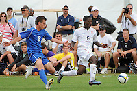 Boyd Okwuonu (6) of the USA is chased by Zack Foxhoven (8) of the Academy Select Team. The US U-17 Men's National Team defeated the Development Academy Select Team 5-3 during day two of the US Soccer Development Academy  Spring Showcase in Sarasota, FL, on May 23, 2009.