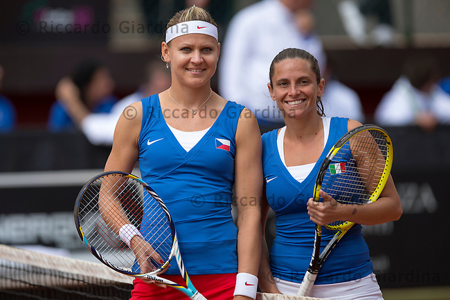 FED CUP 2013, World Group Semifinals :: ITA vs CZE :: 3nd Day - Apr, 22nd 2013.R.Vinci (ITA) vs L.Safarova (CZE)