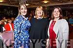 Caroline Scanlon, Eileen Hartnett and Mary Chute from Listowel attending the San Rita Wellness and Fashion show in the Rose Hotel on Friday night.