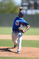 Chicago Cubs pitcher Trey Lang (30) during an Instructional League game against the Oakland Athletics on October 16, 2013 at Papago Park Baseball Complex in Phoenix, Arizona.  (Mike Janes/Four Seam Images)