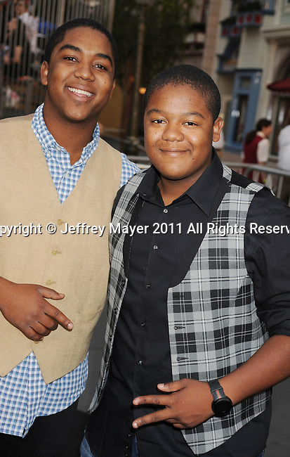 """ANAHEIM, CA - MAY 07: Kyle Massey and Christopher Massey arrive to the """"Pirates Of The Caribbean: On Stranger Tides"""" World Premiere at Disneyland on May 7, 2011 in Anaheim, California."""