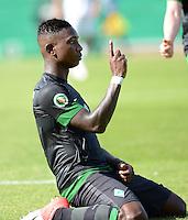 FUSSBALL   DFB POKAL   SAISON 2012/2013   1. Hauptrunde Preussen Muenster - Werder Bremen              19.08.2012 Eljero Elia (lSV Werder Bremen) bejubelt sein Tor zum 0:1