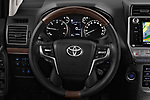 Car pictures of steering wheel view of a 2018 Toyota Landcruiser Premium 5 Door SUV