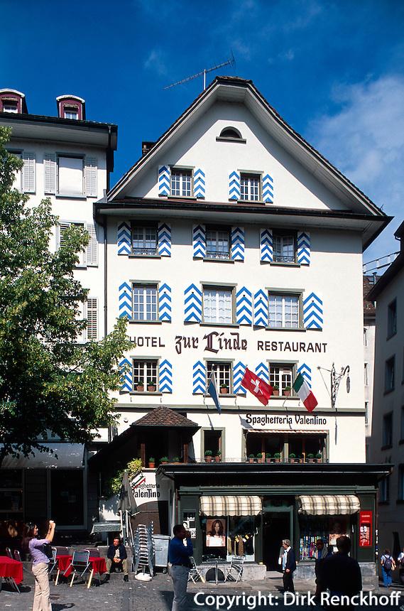 Schweiz, Hotel Restaurant zur Linde am Weinmarkt in Luzern