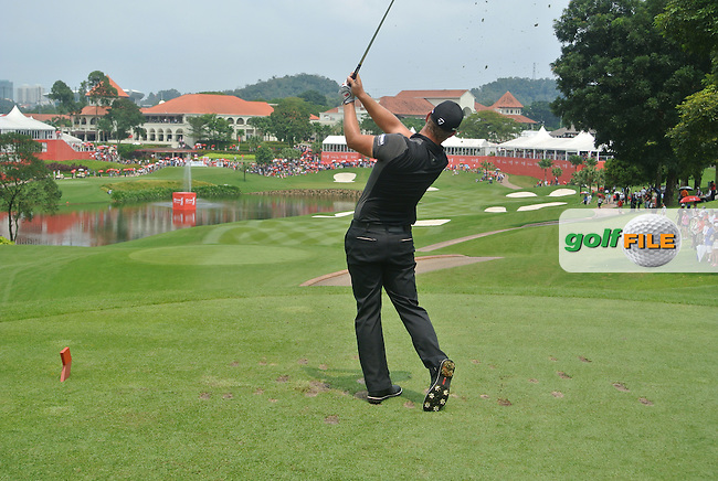 Ryan Moore (USA) on the 14th tee during Round 4 of the CIMB Classic in the Kuala Lumpur Golf &amp; Country Club on Sunday 2nd November 2014.<br /> Picture:  Thos Caffrey / www.golffile.ie