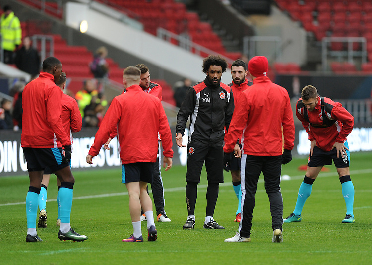 Fleetwood Town's Sports scientist Youl Maw&eacute;n&eacute; during the pre-match warm-up <br /> <br /> Photographer Ashley Crowden/CameraSport<br /> <br /> Emirates FA Cup Third Round - Bristol City v Fleetwood Town - Saturday 7th January 2017 - Ashton Gate - Bristol<br />  <br /> World Copyright &copy; 2017 CameraSport. All rights reserved. 43 Linden Ave. Countesthorpe. Leicester. England. LE8 5PG - Tel: +44 (0) 116 277 4147 - admin@camerasport.com - www.camerasport.com