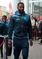 Kyle Bartley of Swansea City arrives prior to the game during the Premier League match between Southampton and Swansea City at the St Mary's Stadium, Southampton, England, UK. Saturday 12 August 2017