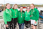 The Cromane Minor Crew who came second to Valentia at the Portmagee Regatta on Saturday were l-r; Clair Fealy, Shannon Foley, Mary B.Teahan(Cox), Anne Marie Fealy & Ava Griffin.