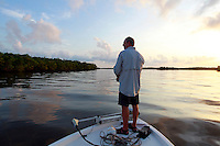 Mike Derbyshire fishing in the Florida Everglades and the 10,000 islands out of Chokoloskee Island. Photo/Andrew Shurtleff