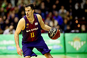 7th January 2018, San Pablo Sports Municipal Palace, Seville, Spain; Endesa League Basketball, Real Betis Energia Plus versus FC Barcelona Lassa; Heurtel from Barcelona Lassa brings the ball foward