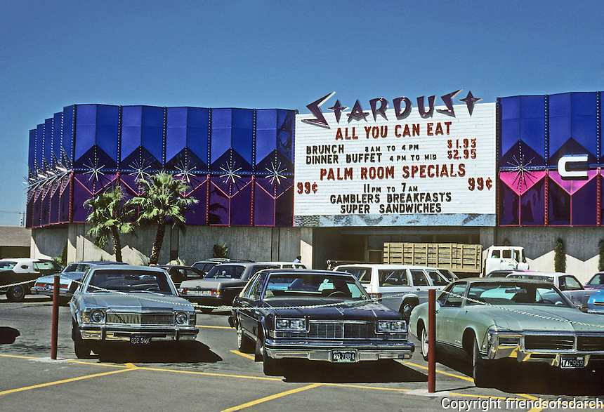 Las Vegas: Stardust --facade and signage. Photo '79.