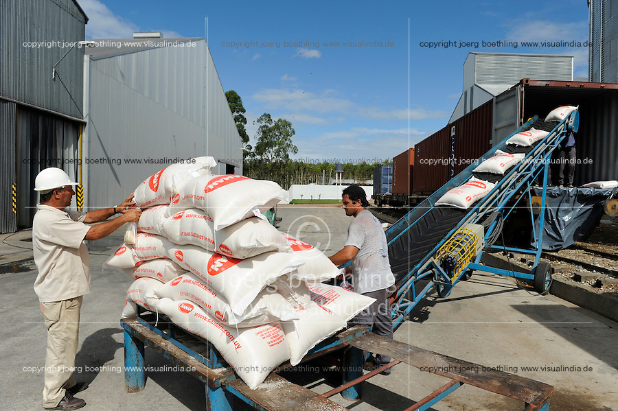 URUGUAY Villa Sara , rice mill Saman, processing of GMO free rice for export / Reismuehle Saman, Verarbeitung von GVO freiem Reis fuer den Export