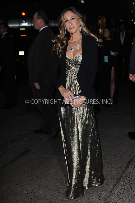 WWW.ACEPIXS.COM . . . . . .April 18, 2013...New York City....Sarah Jessica Parker at the Tiffany & Co. 2013 Blue Book Collection Ball at Rockefeller Center on April 18, 2013 in New York City ....Please byline: KRISTIN CALLAHAN - ACEPIXS.COM.. . . . . . ..Ace Pictures, Inc: ..tel: (212) 243 8787 or (646) 769 0430..e-mail: info@acepixs.com..web: http://www.acepixs.com .
