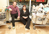 09/06/14<br /> Supermarket dash prize winners Herbie and Lorraine Birch pictured at Dunnes Stores ,Donaghmede where they took part in the challenge to fill their trollies&hellip;.<br /> Collins Photos