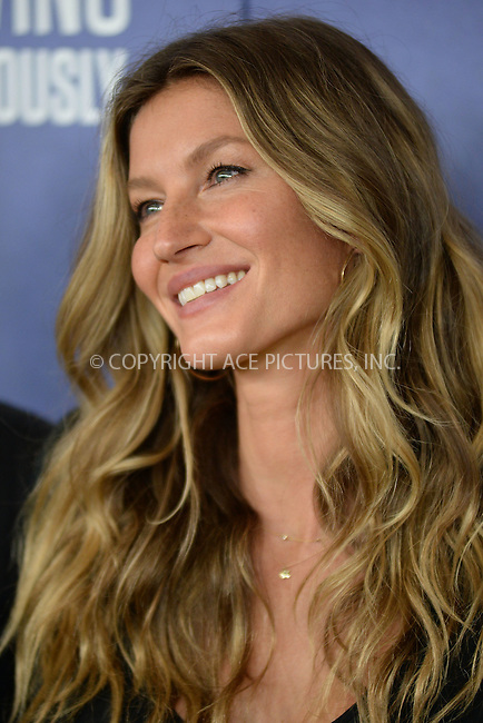 www.acepixs.com<br /> September 21, 2016  New York City<br /> <br /> Gisele Bundchen attending National Geographic's 'Years Of Living Dangerously' new season world premiere at the American Museum of Natural History on September 21, 2016 in New York City. <br /> <br /> Credit: Kristin Callahan/ACE Pictures<br /> <br /> <br /> Tel: 646 769 0430<br /> Email: info@acepixs.com