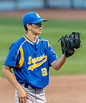 MIDDLETOWN, CT. 06 June 2018-060618BS513 - Starting Pitcher Seymour's Austin DeRosa (21) looks to home plate before delivering a pitch during the CIAC Tournament Class M Semi-Final baseball game between Seymour and St Joseph at Palmer Field on Wednesday evening. Seymour beat St Joseph 8-0 and will play Wolcott for the Class M championship on Saturday. Bill Shettle Republican-American