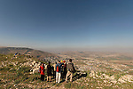 Samaria, a view of Mount Ebal and Michmetat valley as seen from Mount Gerizim