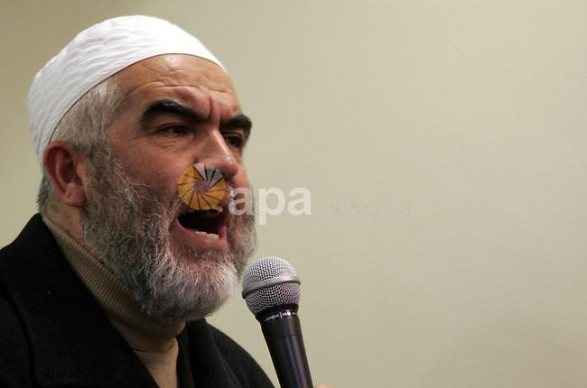 Head of the Islamic Movement, Sheikh Raed Salah attends a celebration in Jerusalem on January 1, 2011. Photo by Mahfouz Abu Turk