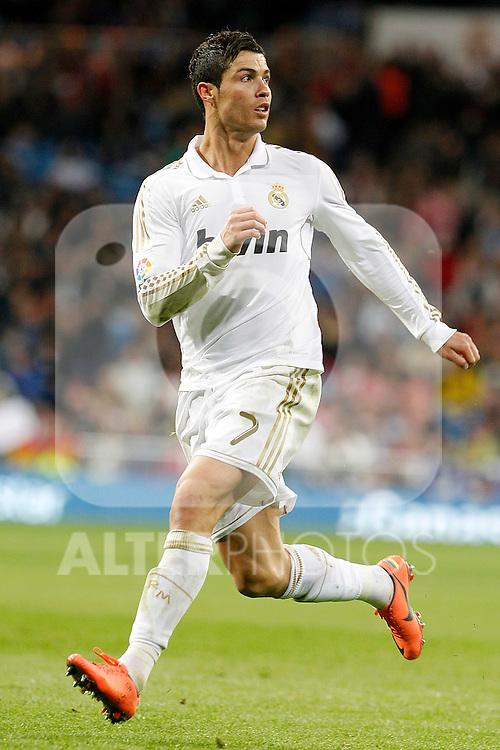 Real Madrid's Cristiano Ronaldo during La Liga match.April 14,2012. (ALTERPHOTOS/Acero)