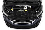 Car stock 2020 Renault Trafic Grand-Confort 4 Door Cargo Van engine high angle detail view