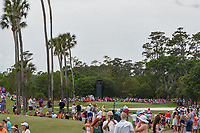 A long and wide shot of hole number 3 during round 4 of The Players Championship, TPC Sawgrass, at Ponte Vedra, Florida, USA. 5/13/2018.<br /> Picture: Golffile | Ken Murray<br /> <br /> <br /> All photo usage must carry mandatory copyright credit (&copy; Golffile | Ken Murray)
