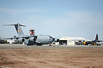The C-17 Globemaster III is the newest,most flexible cargo aircraft to enter the airlift force.It is capable of rapid strategic delivery of troops and all types of cargo to main operating bases or directly to forward bases in the deployment area.<br />