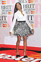 Jamelia arriving at The Brit Awards 2015 (Brits) held at the O2 - Arrivals, London. 25/02/2015 Picture by: James Smith / Featureflash