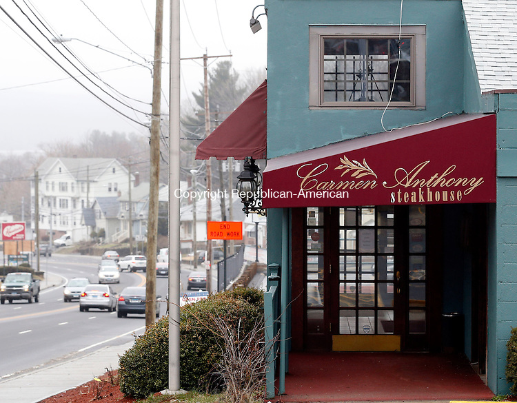Waterbury, CT- 10 April 2015-041015CM04-   The exterior of Carmen Anthony Steakhouse is shown on Chase Avenue in Waterbury on Friday.  Former owner Carmen Vacalebre, recently had to close the Waterbury location. Christopher Massa Republican-American