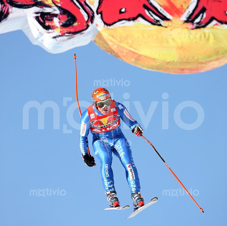 Ski Alpin;  Saison 2007/2008  15.01.2008 68. Hahnenkamm Rennen Abfahrt Didier Cuche (SUI) am Hausbergsprung