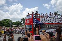Coach Erik Spoelstra at Miami Heat NBA 2013 Championship parade, Biscayne Boulevard, American Airlines Arena, Miami, FL, June 24, 2013