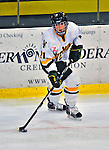 21 February 2009: University of Vermont Catamounts' defenseman Melanie Greene, a Junior from Queensbury, NY, in action against the University of Maine Black Bears at Gutterson Fieldhouse in Burlington, Vermont. The Catamounts shut out the Black Bears 1-0. Mandatory Photo Credit: Ed Wolfstein Photo