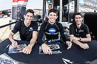 Jordan Taylor, Ricky Taylor, Tony DiZinno, 12 Hours of Sebring, Sebring International Raceway, Sebring, FL, March 2015.  (Photo by Brian Cleary/ www.bcpix.com )