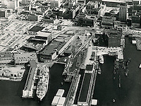 UNDATED..Historical..Aerial view Freemason Harbor...NEG#.NRHA#..