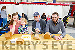 Lucy and Cassie O'Sullivan, Dara Mullalley and Donagh O'Sullivan having a quick bite and enjoying the Food Festival in Tralee on Sunday.