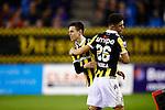 Nederland, Arnhem, 18 december 2015<br /> Eredivisie<br /> Seizoen 2014-2015<br /> Vitesse-FC Twente (5-1)<br /> Mitchell van Bergen van Vitesse komt in het veld voor Milot Rashica van Vitesse