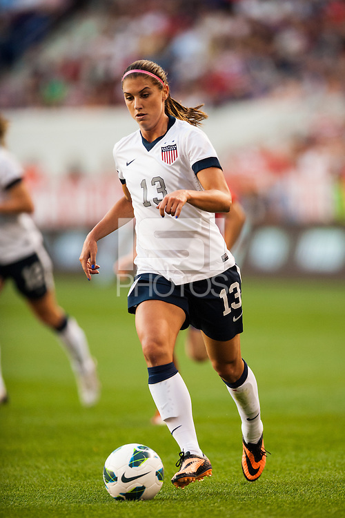 United States (USA) forward Alex Morgan (13). The women's national team of the United States defeated the Korea Republic 5-0 during an international friendly at Red Bull Arena in Harrison, NJ, on June 20, 2013.