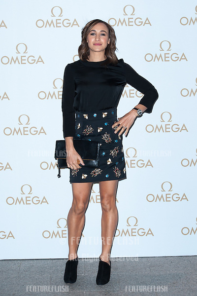 Jessica Ennis arriving for the Omega Oxford Street Store Opening Party, The Shard, London. 10/12/2014 Picture by: Dave Norton / Featureflash