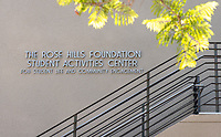 Photo of the Rose Hills Foundation Plaza outside the Student Activities Center of the Johnson Student Center, Aug. 15, 2013.<br />