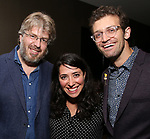 Dave Malloy, Rachel Chavkin and Sam Pinkleton attends the Dramatists Guild Fund's Intimate Salon with Dave Malloy at Stella Tower on June 7, 2017 in New York City.