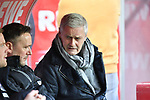 14.01.2018, RheinEnergieStadion, Koeln, GER, 1.FBL., 1. FC K&ouml;ln vs. Borussia M&ouml;nchengladbach<br /> <br /> im Bild / picture shows: <br /> Armin Veh Gesch&auml;ftsf&uuml;hrer Sport (1.FC Koeln), auf der Bank <br /> <br /> <br /> Foto &copy; nordphoto / Meuter