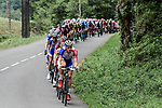 The peloton with Groupama-FDJ on the front descend the Col du Soulor during Stage 14 of the 2019 Tour de France running 117.5km from Tarbes to Tourmalet Bareges, France. 20th July 2019.<br /> Picture: ASO/Pauline Ballet | Cyclefile<br /> All photos usage must carry mandatory copyright credit (© Cyclefile | ASO/Pauline Ballet)