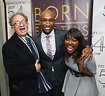 "William Ivey Long, Donald Webber Jr. and Loren Lott backstage after a Song preview performance of the Bebe Winans Broadway Bound Musical ""Born For This"" at Feinstein's 54 Below on November 5, 2018 in New York City."