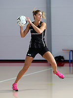 18.10.2015 Silver Ferns Kayla Cullen trains for their upcoming netball test match against Australia in Christchurch. Mandatory Photo Credit ©Michael Bradley.