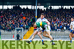 Tomás Ó Sé  Kerry in action against Dessie Mone Monaghan during the Allianz Football League Division 1 Round 5 match between Kerry and Monaghan at Fitzgerald Stadium in Killarney, on Sunday.