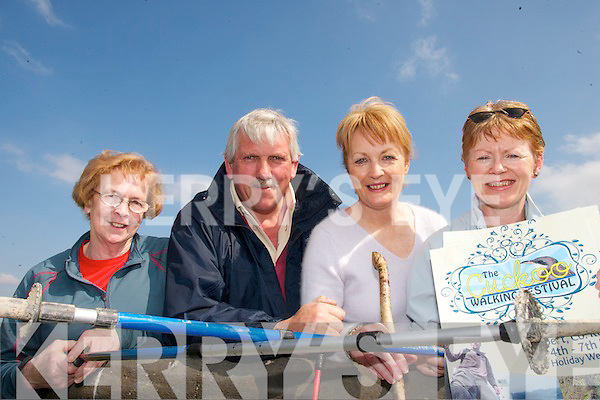 WALKING TALL: members of the Tarbert Development Association who have organised The Cuckoo Walking Festival on the May Bank Holiday Weekend..L/r. Joan Murphy, Johnny Mulvihill, Ita Gormley and Patricia Lanigan.
