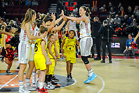 20191114 - CHARLEROI , BELGIUM : Belgian Cat Emma Meesseman (11) pictured before a female basketball match between the Belgian national team Belgian Cats and Ukraine , a first qualification game for the Belgian Cats in Group G towards the Women's European Eurobasket Basketball Championships 2021 in Lyon, Paris and Valencia, on Thursday 14 th November in the Dome in Charleroi , Belgium . PHOTO SPORTPIX | STIJN AUDOOREN